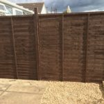 Fence panel painted